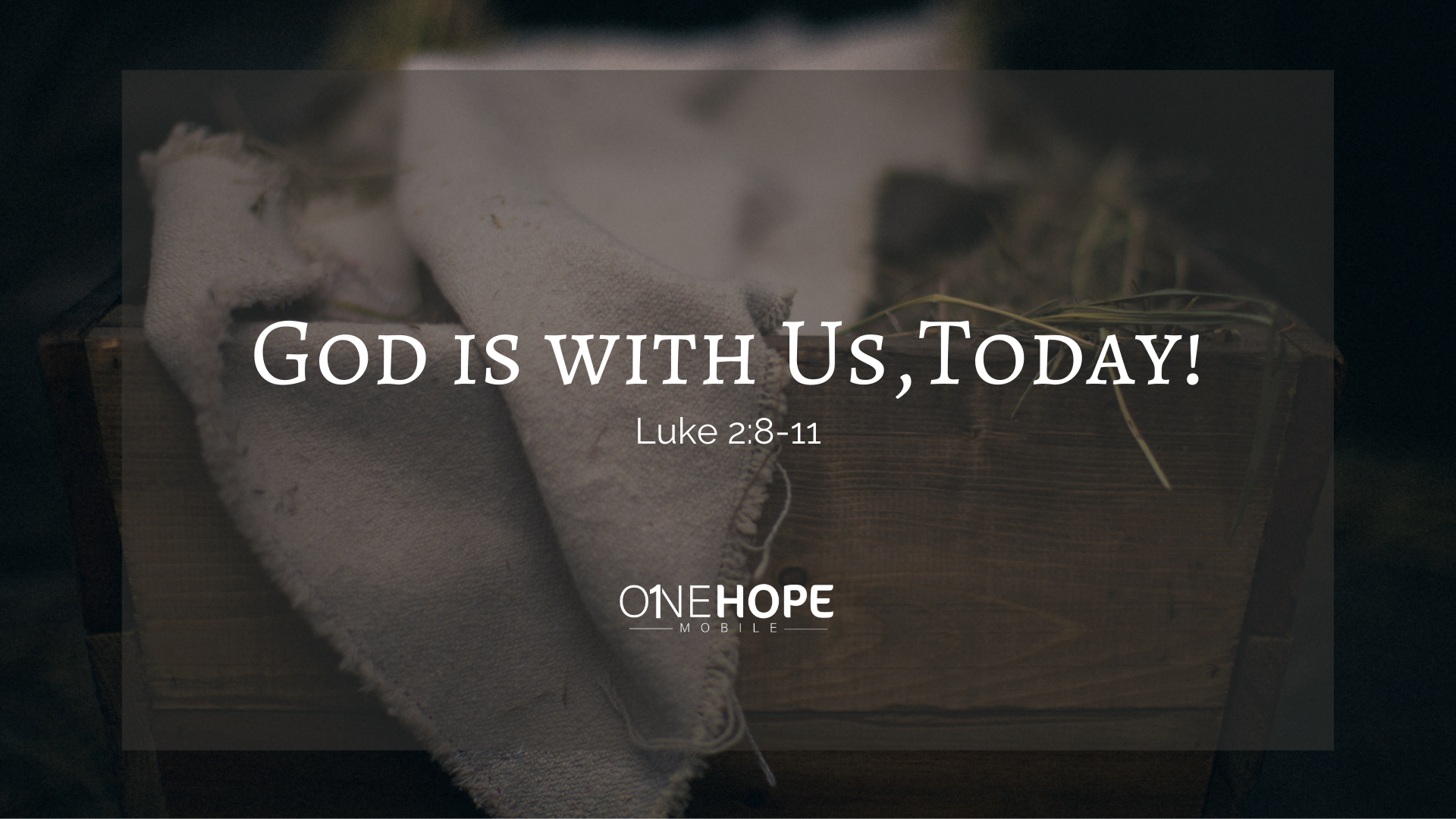 God is with Us, Today!