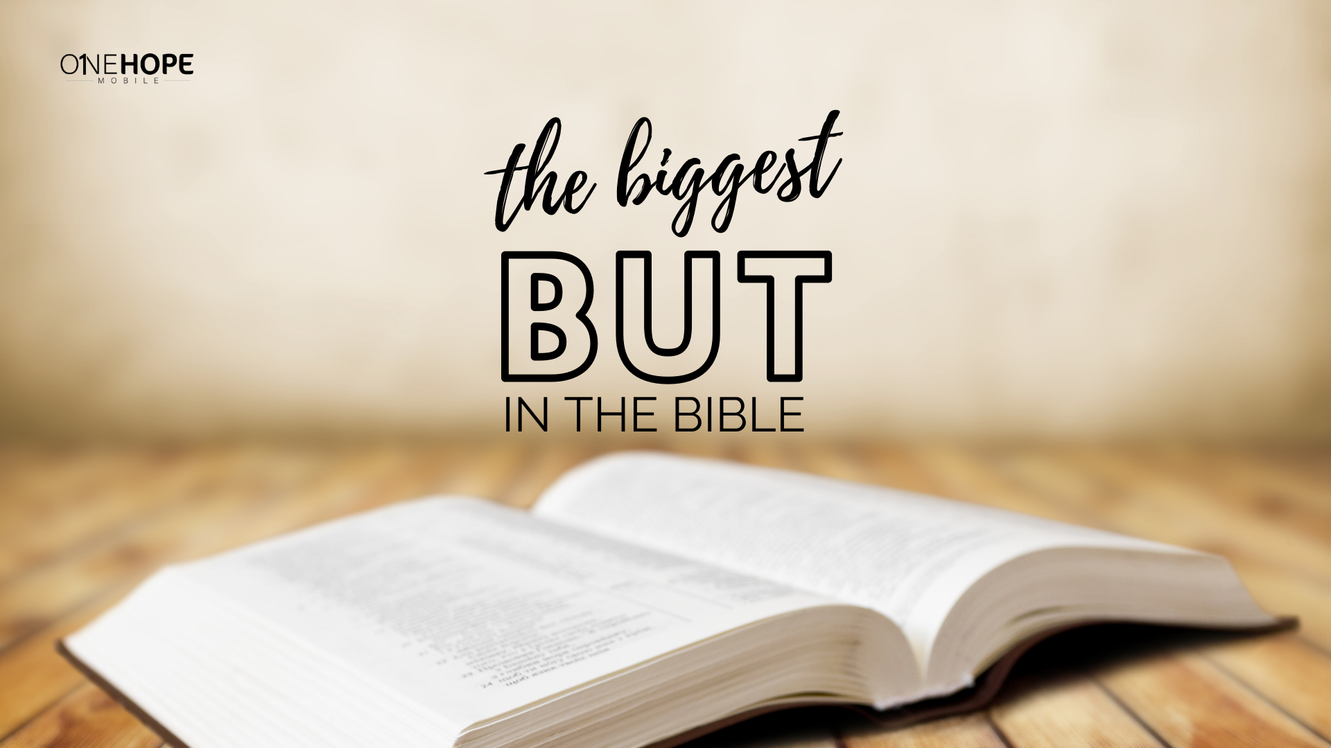 The Biggest 'but' in the Bible!
